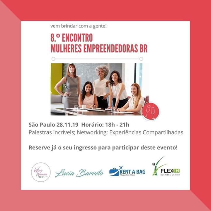 28/11/2019 – 8º Encontro Mulheres Empreendedoras BR